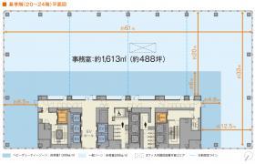 Hareza池袋(仮称)豊島プロジェクト:基準階図面