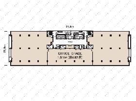 興和一ツ橋ビル:基準階図面