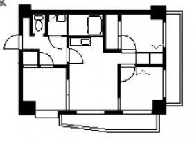 モナークマンション根岸ビル:基準階図面