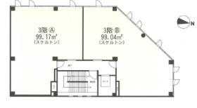 アスク新都心ビル:基準階図面