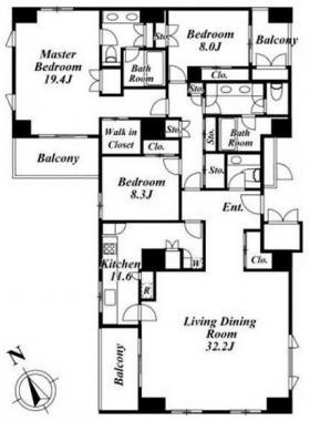 ホーマットロイヤルビル:基準階図面