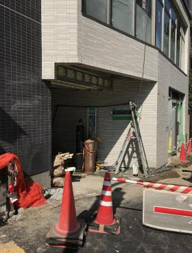 (仮称)千代田区五番町計画ビルのエントランス