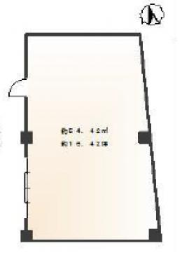 二見ビル:基準階図面