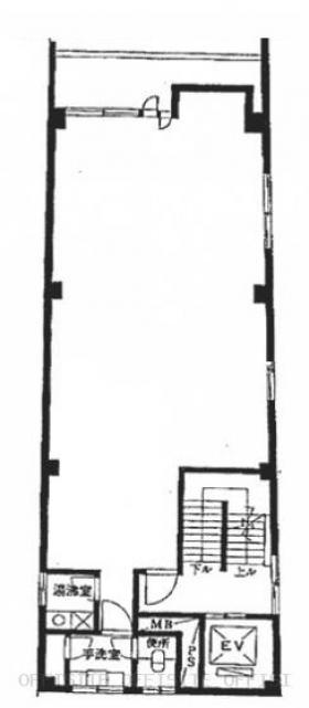 プランセスビルディング:基準階図面