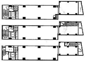 JLBグランエクリュ四ツ谷ビル:基準階図面
