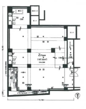 ダイナシティ西新宿:基準階図面