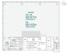 PMO日本橋本町ビル:基準階図面