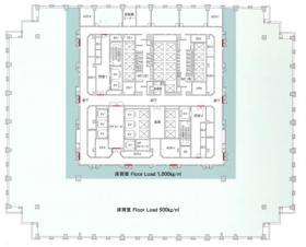 レンタルオフィス品川グランドセントラルタワー:基準階図面