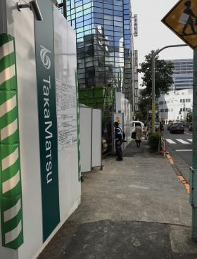 仮称)渋谷一丁目計画ビルのエントランス