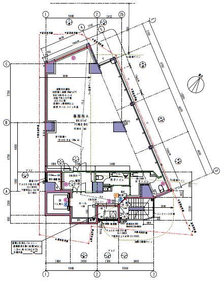 仮称)渋谷一丁目計画ビル 8F 30.5坪(100.82m<sup>2</sup>) 図面
