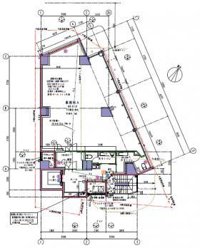 仮称)渋谷一丁目計画ビル:基準階図面