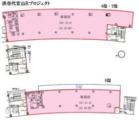 渋谷ブリッジ:基準階図面