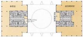 テレコムセンタービル:基準階図面