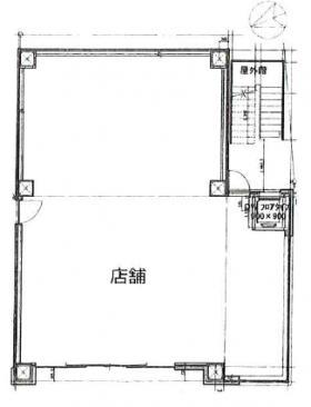 立花第2国際ビル(ホテルサンルート浅草):基準階図面