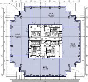 青海フロンティアビル:基準階図面