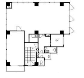 幕張センタービル:基準階図面