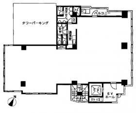 北品川369(アンドウ)ビル:基準階図面