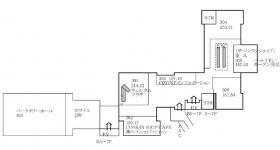 リビングデザインセンターOZONE(新宿パークタワー内)の基準階図面