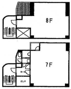 池袋C3ビル:基準階図面