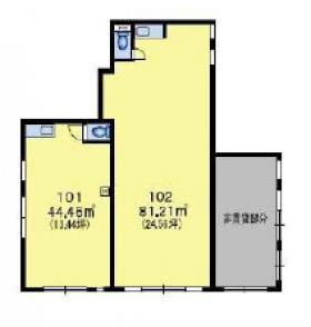 仮称)千駄ヶ谷4丁目ビル:基準階図面