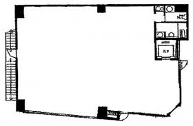 スタッフハウスビル:基準階図面