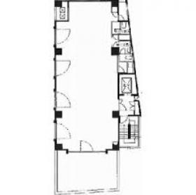 市谷東ビル:基準階図面