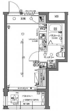 ラグディア高輪ビル:基準階図面