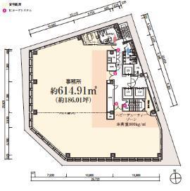 S-GATE日本橋本町ビルの基準階図面