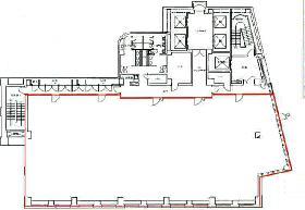 芝二丁目ビル:基準階図面