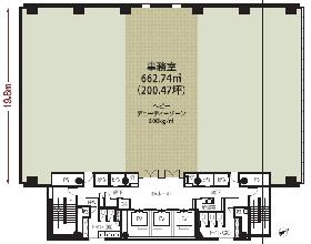 NBF御茶ノ水ビル:基準階図面