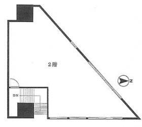 神田駅前高架下ビル:基準階図面