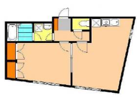 ハイツササキビル:基準階図面