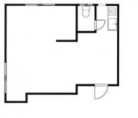 オフィスイワタ第2ビル:基準階図面