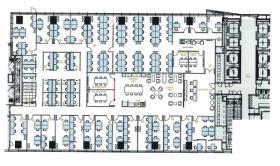 エグゼクティブセンター神宮前タワービルディングビル:基準階図面