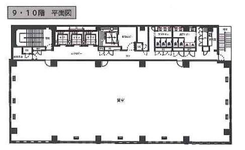 仮称)出版クラブ〈旧(仮称)神保町132〉ビル 9F 144.14坪(476.49m<sup>2</sup>) 図面