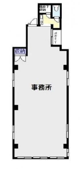 大川ビル:基準階図面