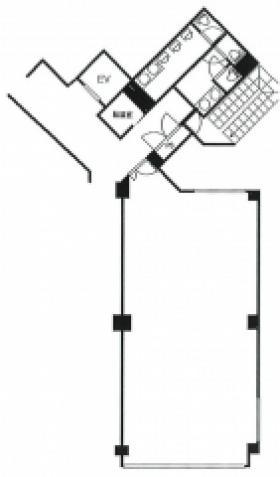第百生命都立大駅前ビル:基準階図面