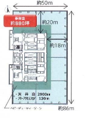大手町プレイスイーストタワー :基準階図面