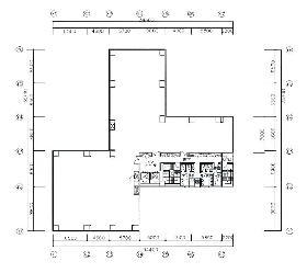 共同茅場町2丁目ビル:基準階図面