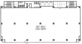 青葉第一ビル:基準階図面