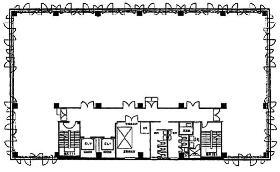 港南パークビルの基準階図面