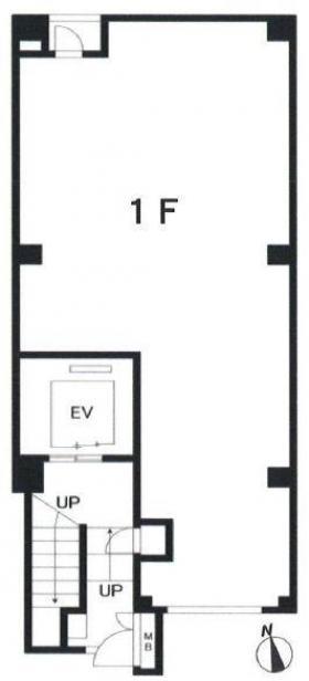 東麻布296ビル:基準階図面