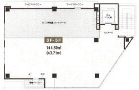 デリス横浜ビル:基準階図面