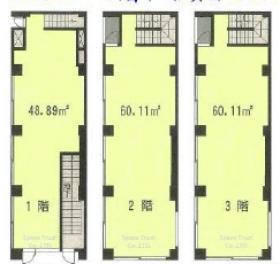 アソルティ赤坂一ツ木stビル:基準階図面