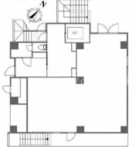 カーサスプレンディッド西麻布ビル:基準階図面