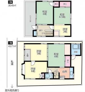 センチュリーハウス西麻布ビル:基準階図面