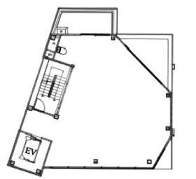 (仮称)港区六本木7丁目プロジェクトビル:基準階図面