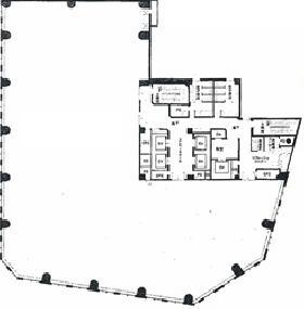 METLIFE日本橋本町ビル:基準階図面