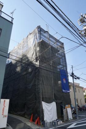 仮称)西五反田新築工事ビルの外観写真
