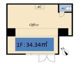 City Creation 鶴見中央ビル:基準階図面